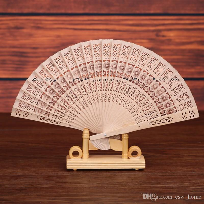 Folding Wooden Carved Craft Hand Fans Chinese Classical Wooden Fan For Home Decoration Crafts Souvenir Gifts wedding favors