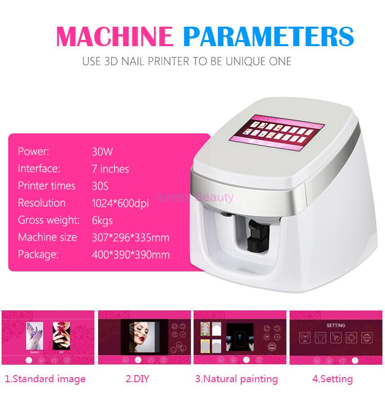 New Arrival Auto Digital Custom 3D Nail Printer Machine with Thousands of Patterns Nail Painting Printing Machine DIY Nail Art Equipment