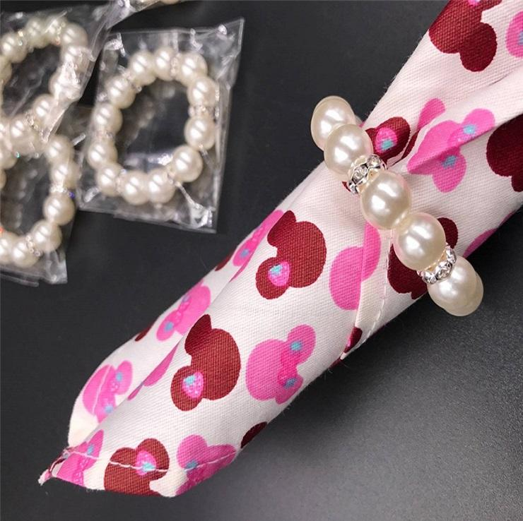 Imitation Pearl Napkin Rings Wedding Napkin Buckle For Wedding