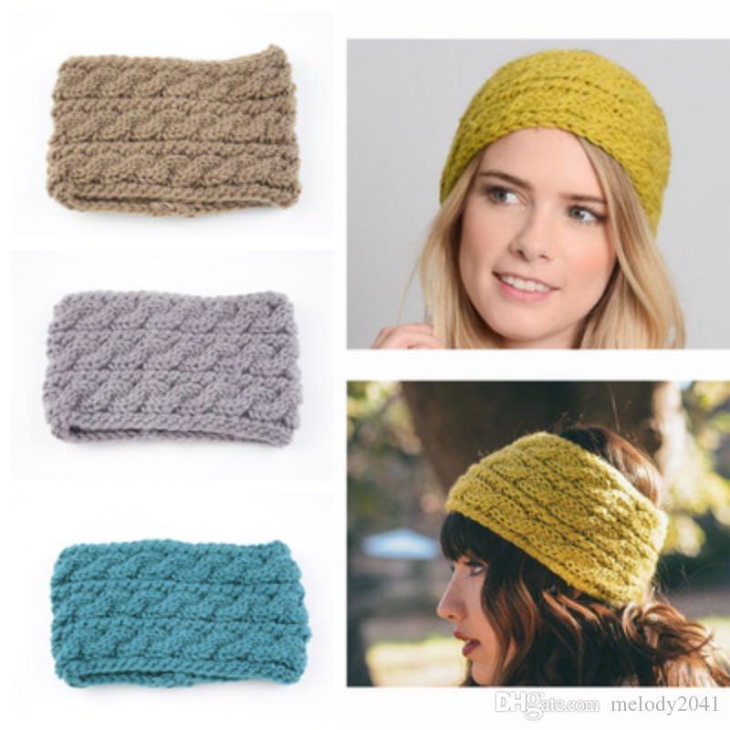 2019 Europe Trendy Knitted Widened Three Rows Twist Headband Women