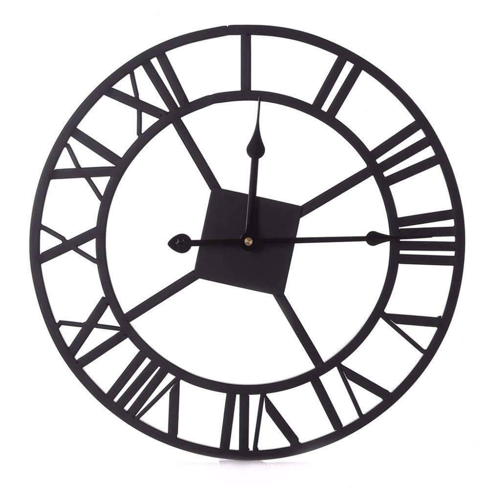 wall clocks for office. New Luxury Modern Large Diy Metal Wall Clock 3d Roman Numerals Round Clocks For Home Living Room Office Decor Art C42 Gold F