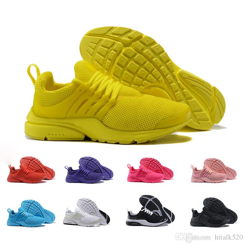 f52eab8cd037 2018 Presto 5 Running Shoes Men Women Prestos Ultra BR QS Bright Color  Yellow Pink Outdoor Fashion Jogging Sports Mens Trainers Sneakers Men Shoes  On Sale ...