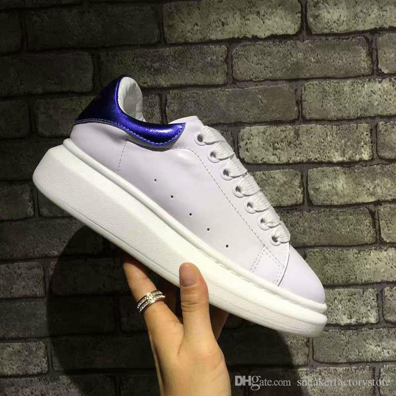c4301cde6 2018 New TOP Luxury Brand Bee White Sole Leather Sneaker Fashion ...