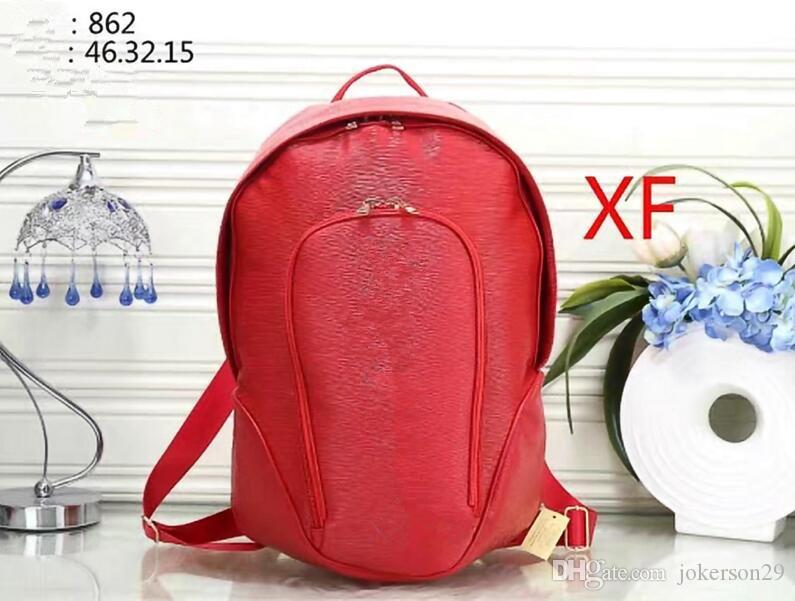 2018 European style brand backpack fashion designer multi-pocket package women and men backpacks high quality handbags popular travel bag