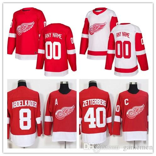 2019 Custom 2018 Detroit Red Wings Men S Women S Youth Ice Hockey Jersey  Name Number Embroidery Personalized Stitched Jersey From Gamemen 67b53320a2f