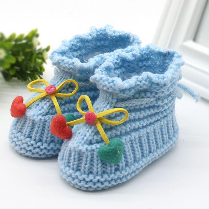 Großhandel Woolen Babyschuhe Kleinkinder Häkeln Strick Fleece Warme ...