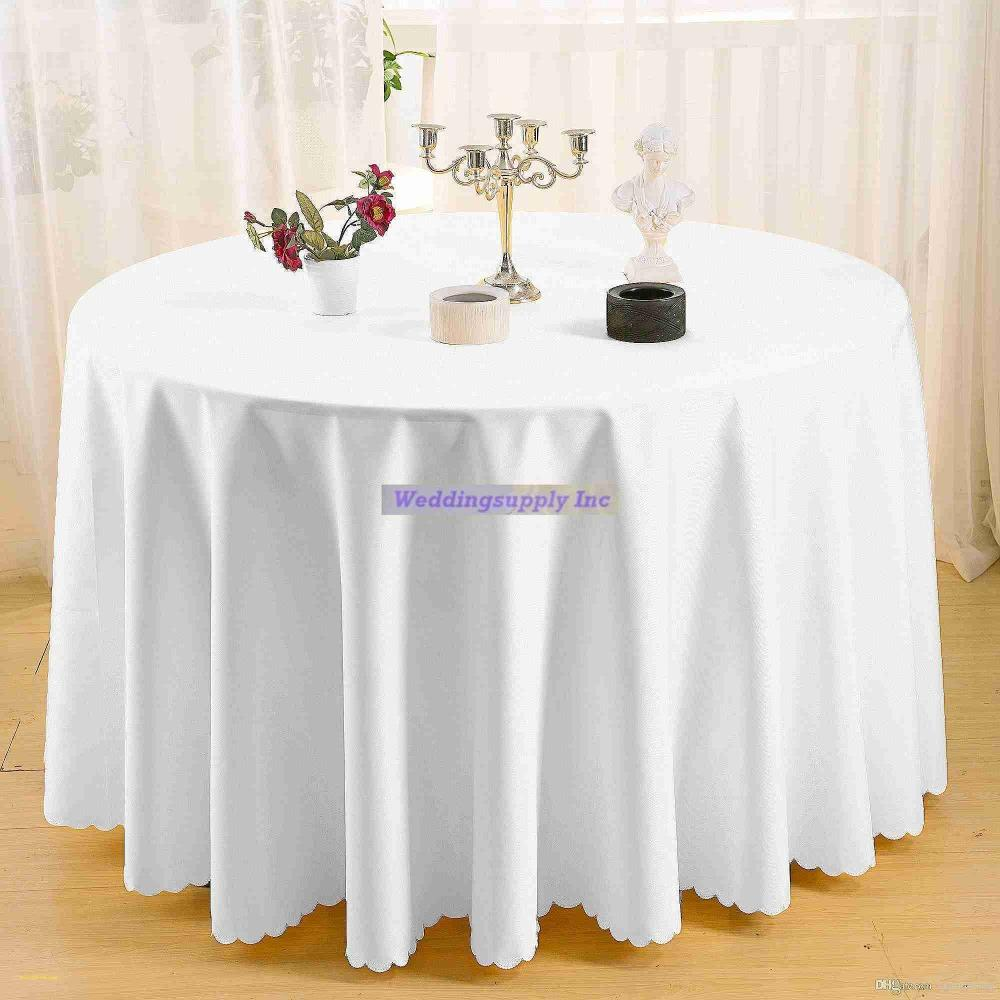 5d36b26bb7029 Germany Sent 275cm Round Polyester Tablecloth White Table Cover Concise  Style For Wedding Party Hotel Banquet Decoratio Tablecloth Sale Table Liner  From ...