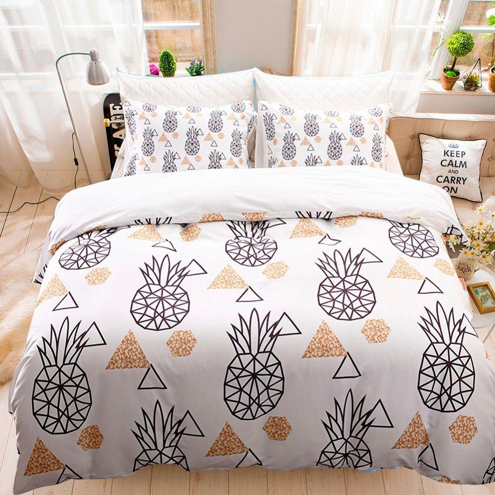 acheter ensemble impression housse de couette ananas impression us twin full queen king housse. Black Bedroom Furniture Sets. Home Design Ideas