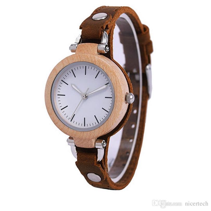 246402f0f44 2018 Top Brand Luxury Lady Casual Vogue Design Small Bracelet Women Wooden  Quartz Watches Girl Hand Clock With Gift Box Buy Wrist Watch Online Online  Wrist ...