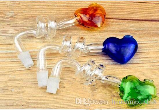 Singolo vaso a spirale di vetro all'ingrosso narghilé, raccordi tubi di acqua di vetro, spedizione gratuita