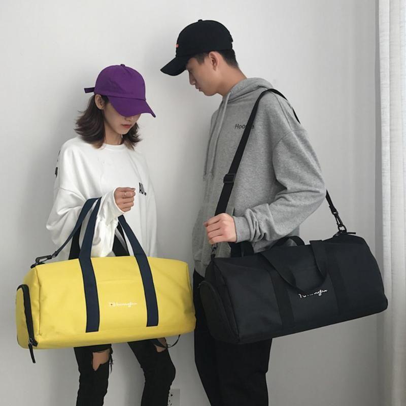 17d50801e Women Men Travel Shoulder Bag Barrel Shape Unisex Capacity Travel Bag  Casual Nylon Handbags 2018 Sports Fitness Bags Z60 Overnight Bags For Women  Briefcases ...