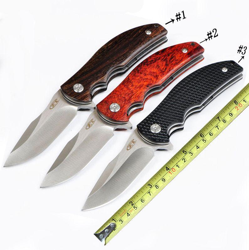 Zero Tolerance 0606CF Tactical Folding Knife G10 wood Handle 8CR13MOV Blade Bearing Flipper Pocket Camping Survival Outdoor Knife D590Q