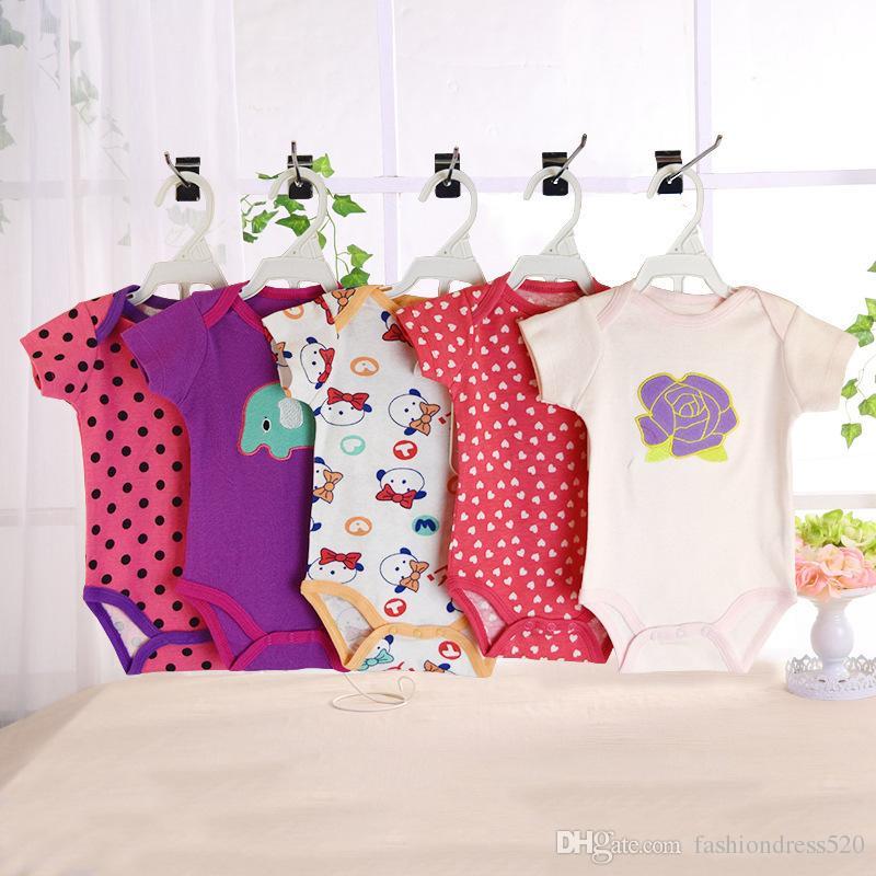 Детские ползунки девушка мальчик с коротким рукавом леопарда печати летняя одежда набор для новорожденных комбинезоны комбинезон бесплатно DHL