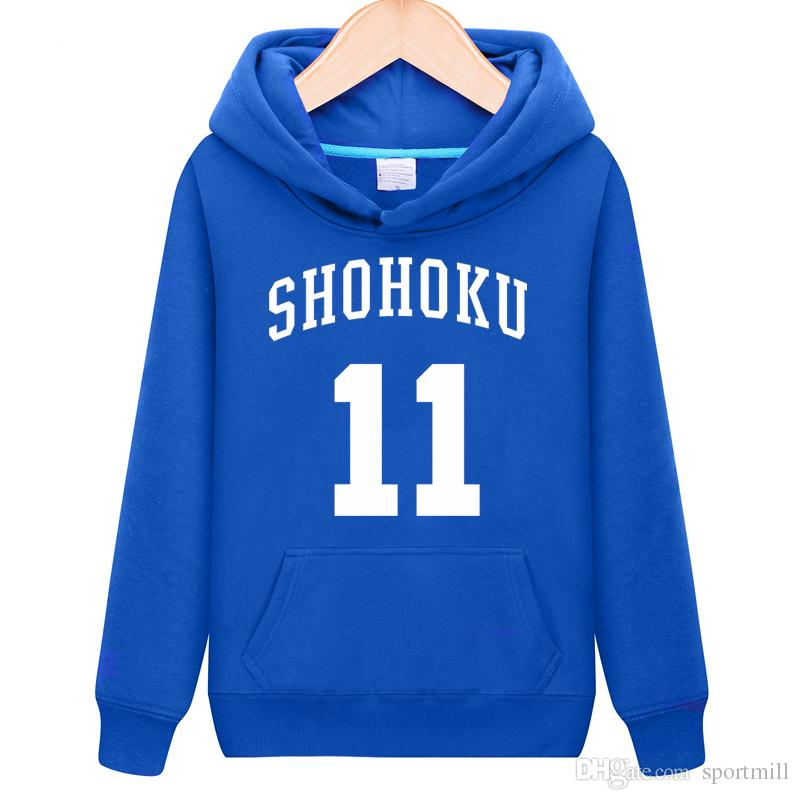 9b2183e4869 2019 Rukawa Kaede Hoodies Slam Dunk 11 Sweat Shirts Shohoku Cartoon Fleece  Clothing Pullover Sweatshirts Sport Coat Outdoor Jackets From Sportmill, ...
