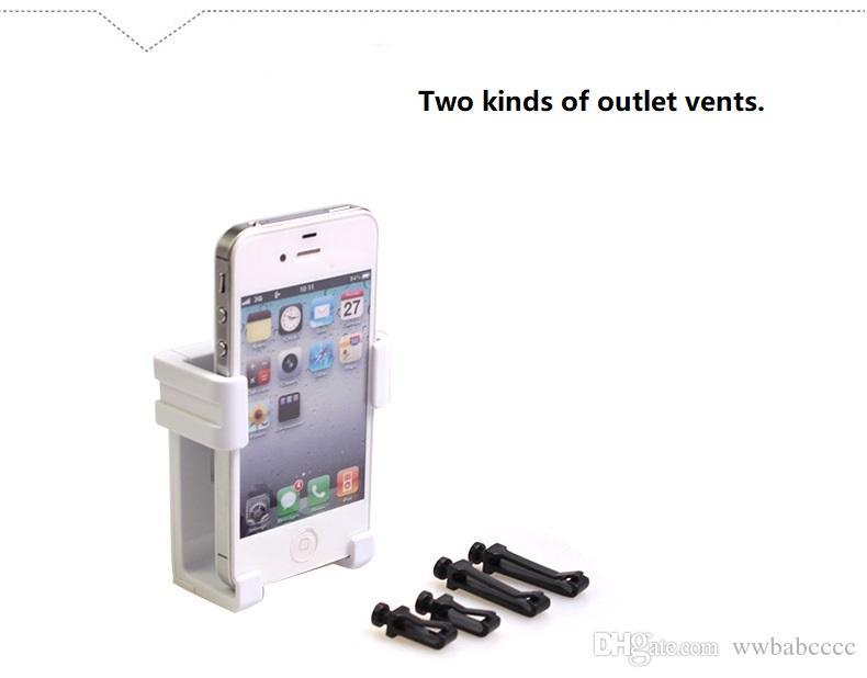 car outlet mobile phone holder.Adjustable outlet car holder for iphone 4 5 6 7 8 ,samsung