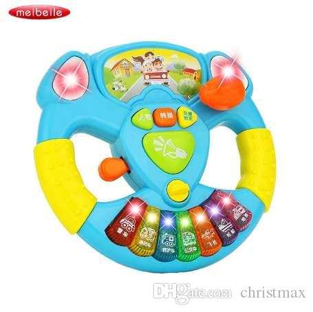 Electric Toy Musical Instruments For Kids Baby Steering Wheel