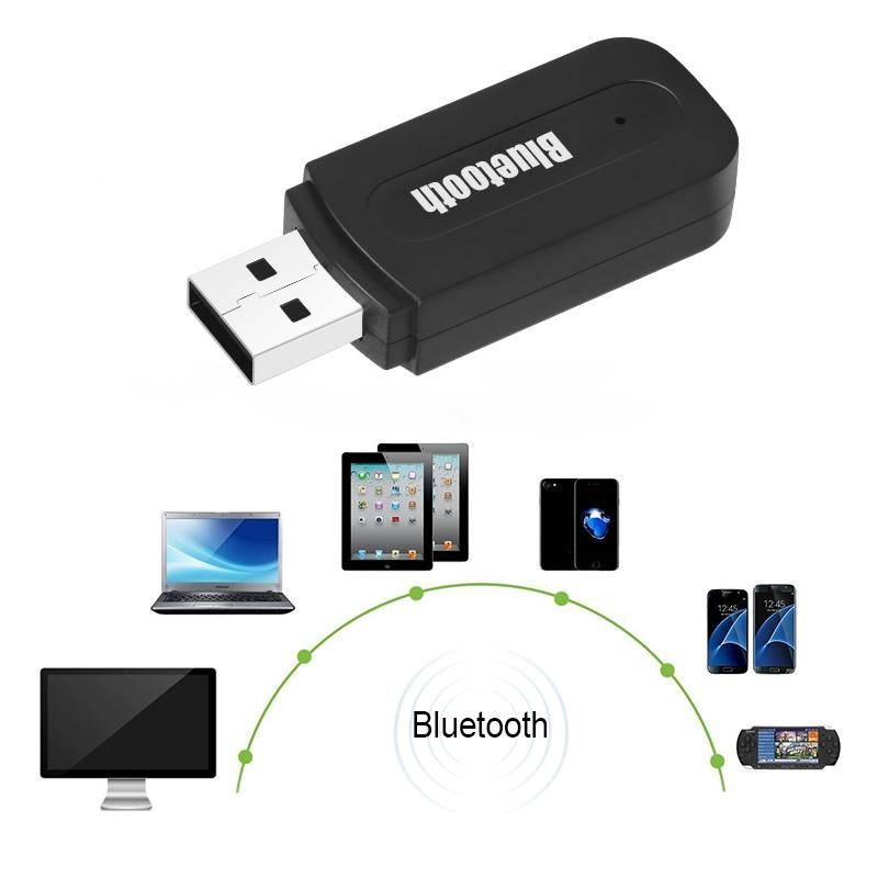 Mini USB Bluetooth Receiver 3.5mm Unique Wireless Bluetooth Stereo Music Car Receiver Adapter for Car Mobile Phone