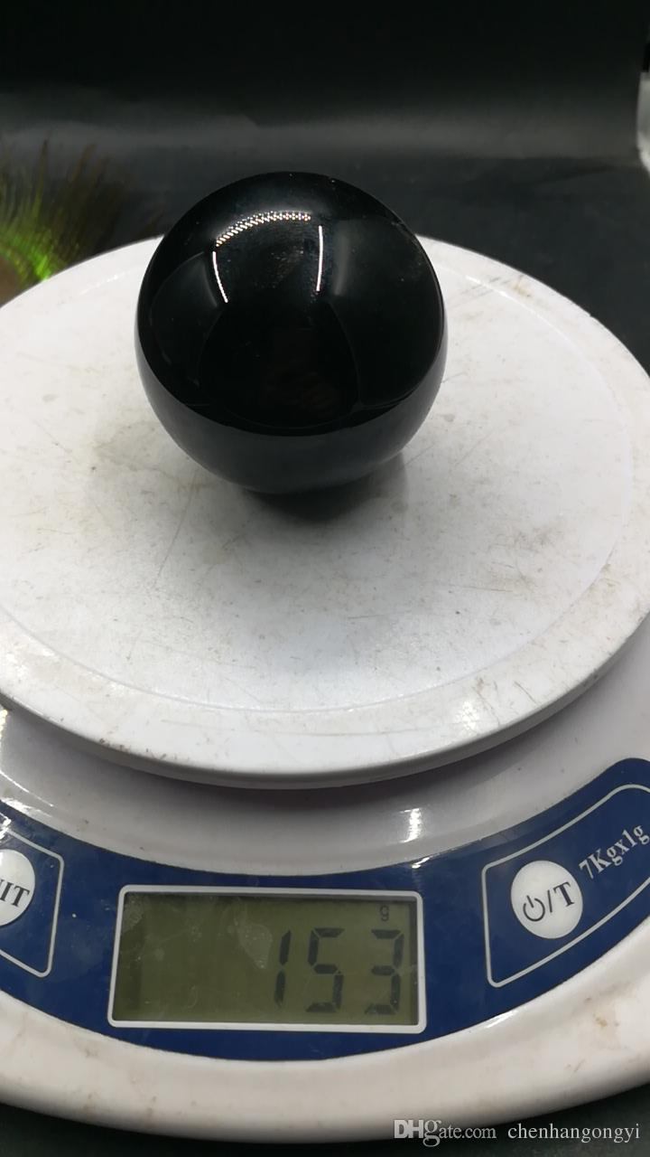 Asian Rare Natural Mineral Black Obsidian Sphere Large Crystal Ball Healing Stone