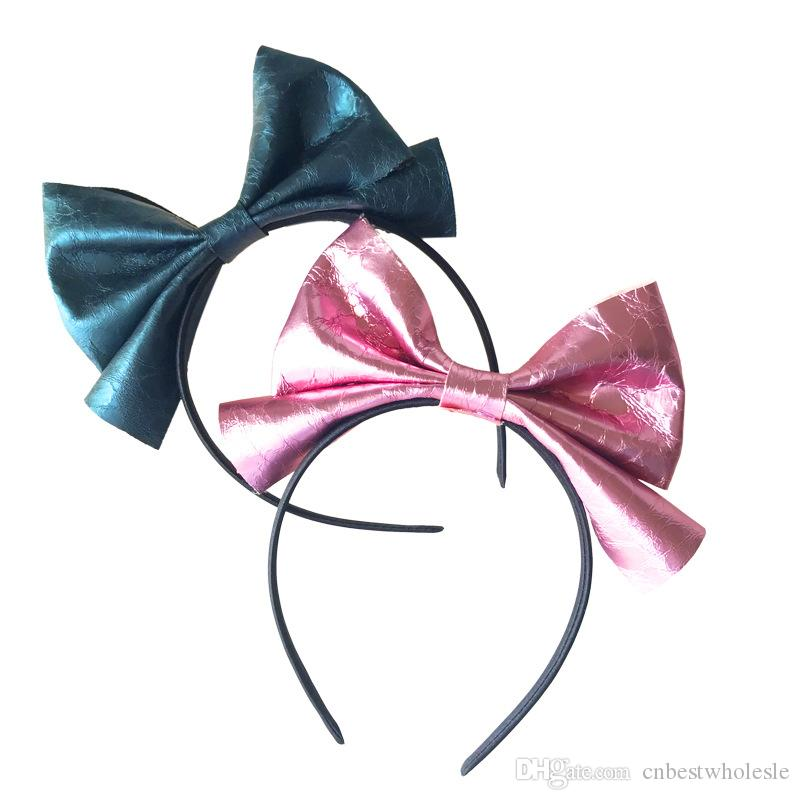 Babies Princess Bow Headbands Kids Girls Shinny Bowknot Hair Sticks 2018 Babies Girl Hair Accessories