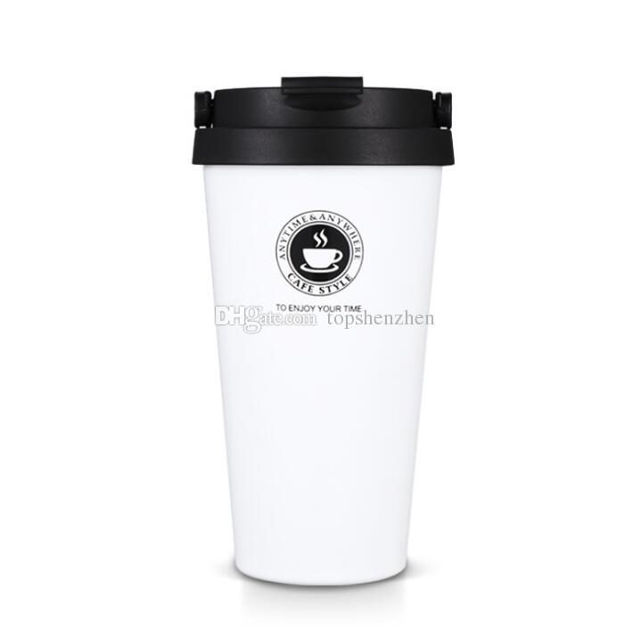 Hot sales 17oz Vacuum Insulated Travel Coffee Mug 500ml Fashion Stainless Steel Tumbler Sweat Tea Cup Thermos Flask Water Bottle
