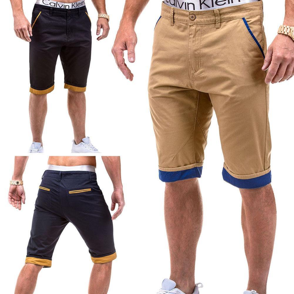 577dd3c5a62b Shorts Men Summer Fashion Mens Shorts Casual Cotton Slim Bermuda Masculina Beach  Shorts Joggers Trousers Knee Length Short UK 2019 From Acering