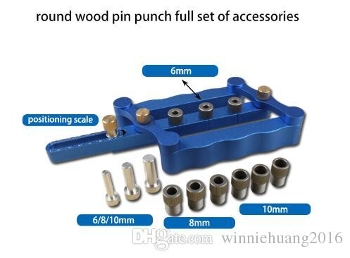 High Quality Woodworking Tools Aluminum Alloy Wood Straight Hole Precise Self-centering Drilling Metric Dowel Jig Kit Drilling Tools