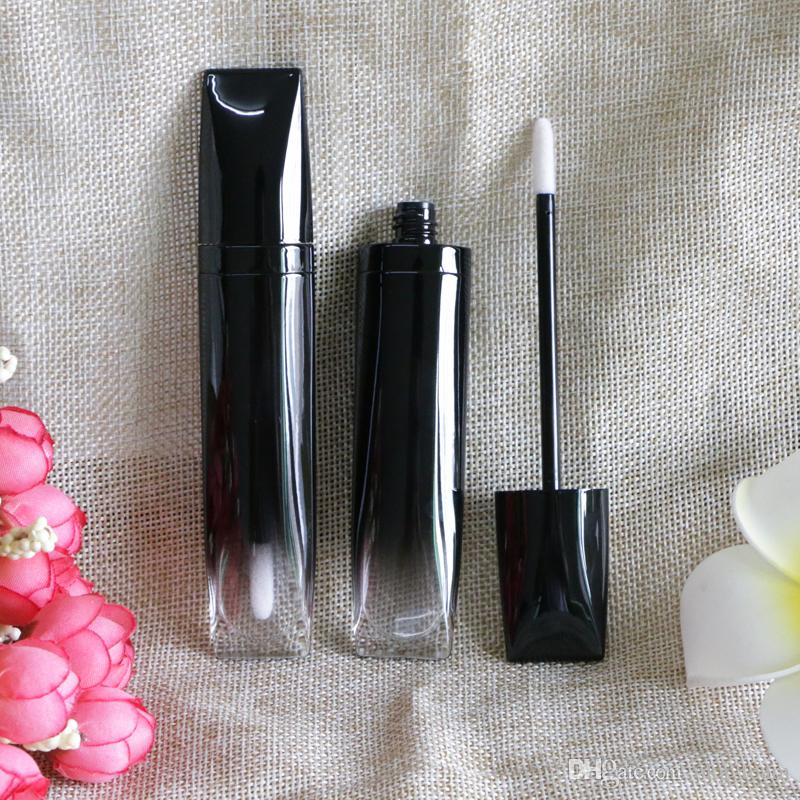 Packaging Cosmetic Lip Gloss Containers 5ml Shiny Black Empty Makeup Lips Plump Tint Liquid Lipstick Tubes Bottles 200pcs