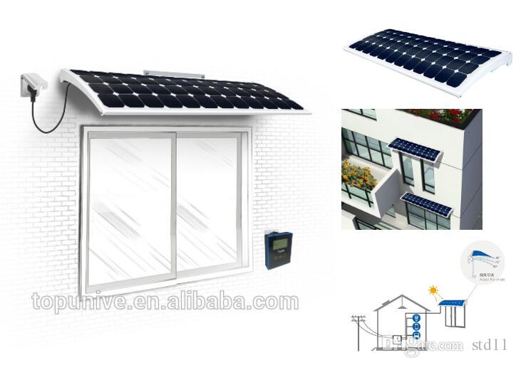 hanergy solar window micro inverter smart power supply Solar Energy System  Smart Home Roof panel 120W 145W 170W