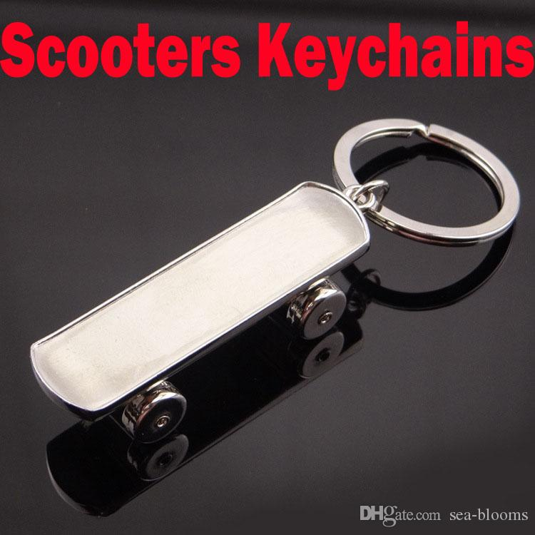 Newest 3D Three Dimensional Scooters Keychains Car Metal Key Rings  Skateboard Sport Key Holder Wholesale Support FBA Drop Shipping G658Q  Carabiner Keychain ... 0cc48d130