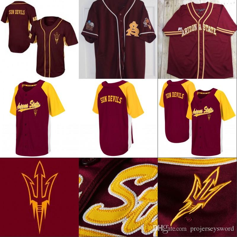 824467610b2 2019 Arizona State Sun Devils College Baseball Jersey 100% Stitched  Embroidery Logos Custom Baseball Jerseys Any Name Any Number From  Projerseysword