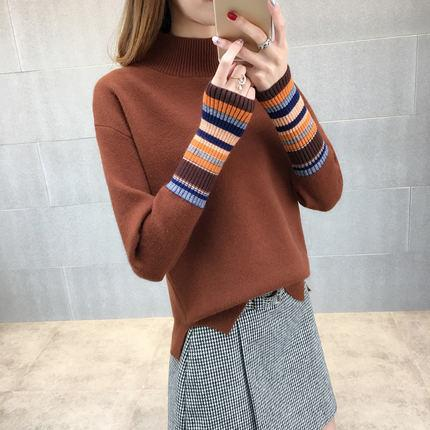 d10404f86 2019 Turtleneck Knitted Women S Sweater 2018 Female And Girls Winter ...