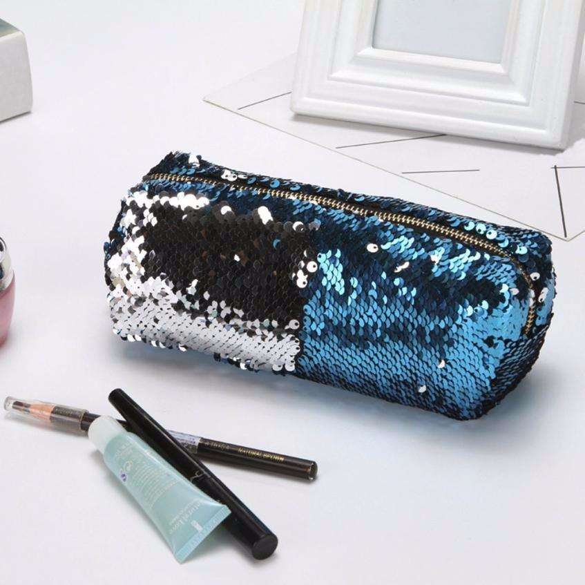 3a482897a277 Online Cheap 2018 Unisex Fashion Double Color Buling Sequins Handbag Female Cosmetic  Bag Makeup Pouch Color Can Be Changed Clutch Bag Bolsa By Universe111 ...