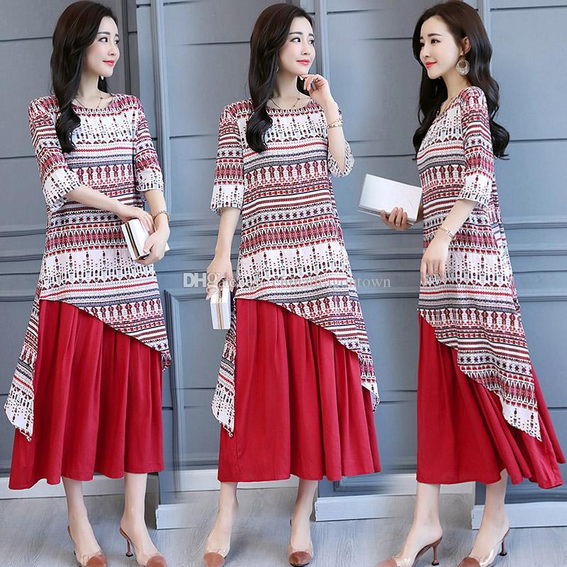86de2b9a5acb Elegant Vietnam Style Womens Ao Dai Robe Vintage Pattern Traditional Costume  Improved Long Modern Cheongsam Casual Dress Teenage Dresses For Sale Long  ...