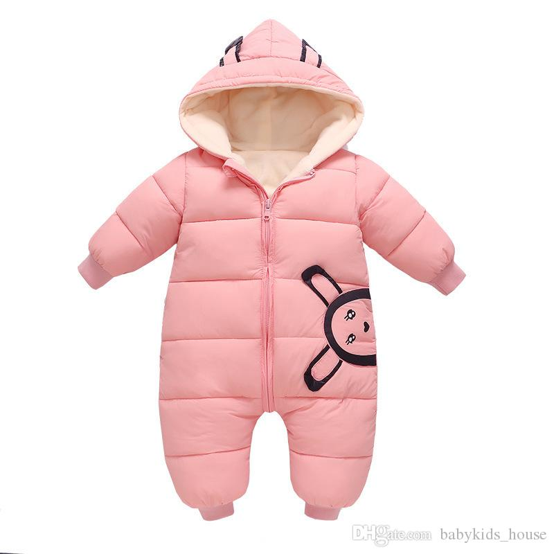 cbb26f002 2019 Newborn Winter Jumpsuit Baby Boy Girl Snowsuit Clothes Warm Romper  Down Cotton Girl Clothes Infant Overcoat Clothing From Babykids_house, ...