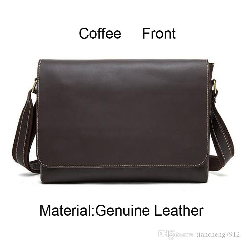 dbef0fdd9 Hot Sale Vintage Coffee Genuine Leather Briefcase Business Bag Mens Over  Shoulder Leather Work Bag 1136 Bags For Men Satchels From Tiancheng7912, ...