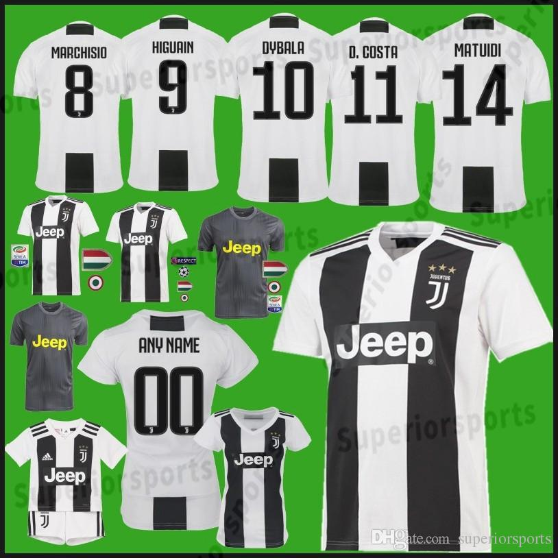 7b2e0c668 2019 Men Youth Juventus Soccer Jerseys 7 Cuadrado Jersey 9 Higuain 10  Dybala 11 Costa 17 Mandzukic 23 EMRE CAN Soccer Jerseys From  Mitasneakere2019