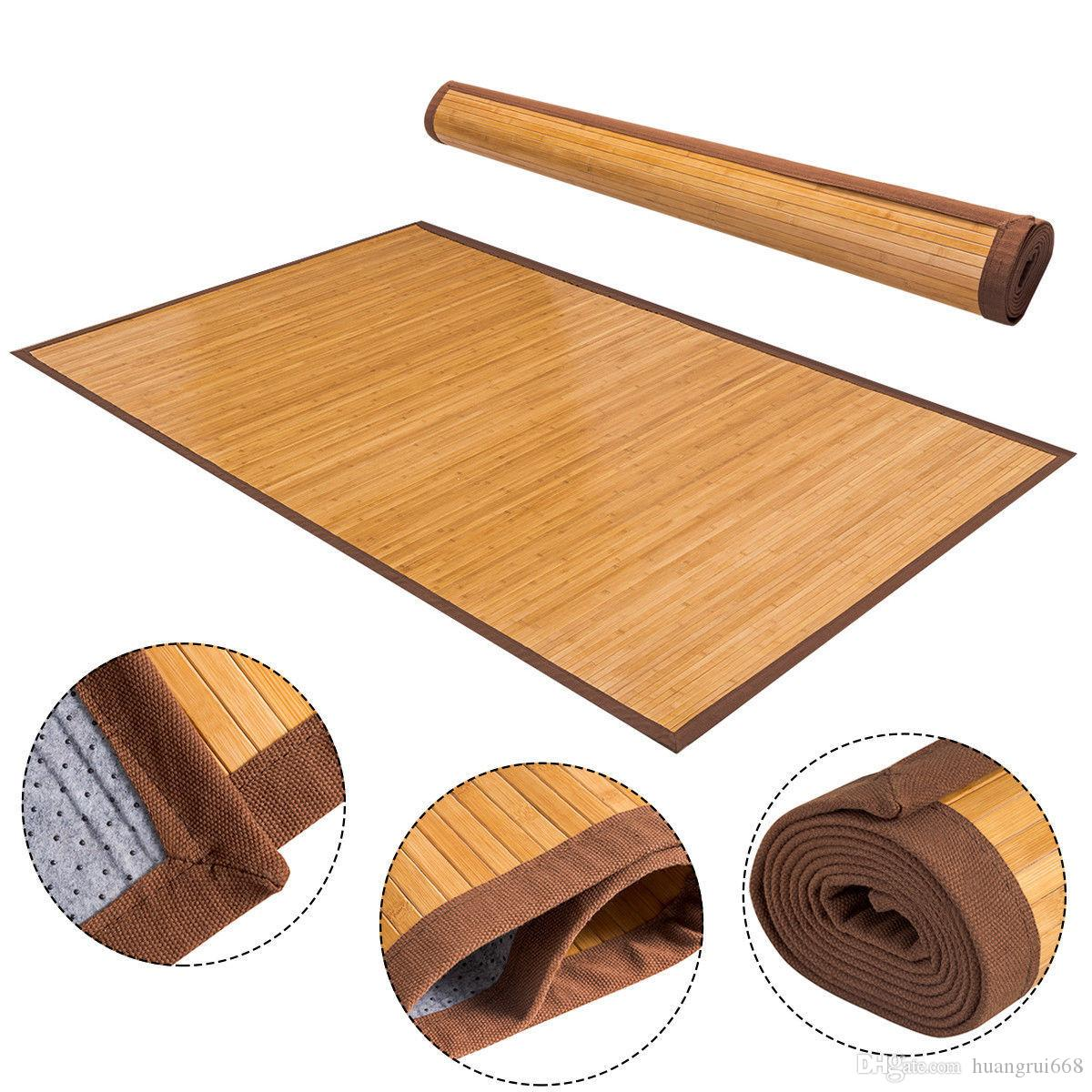 2019 5 x 8 bamboo area rug floor carpet natural bamboo wood indoor outdoor new from huangrui668 46 24 dhgate com
