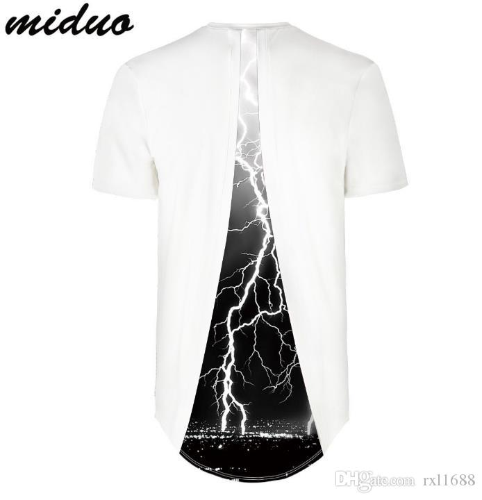Explosive flash lightning digital printing sports bottoming shirt Leisure round short sleeve white t shirt male,