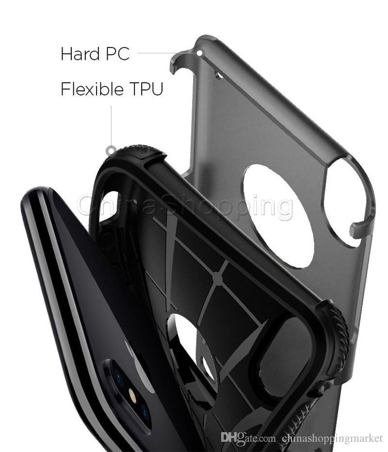 2 في 1 الهجين حالة درع حالات الوعرة ضد الصدمات لتغطية اي فون برو 11 ماكس X XR إكسس ماكس 8 7 6 6S زائد سامسونج S20 زائد الترا ملاحظة S10 زائد