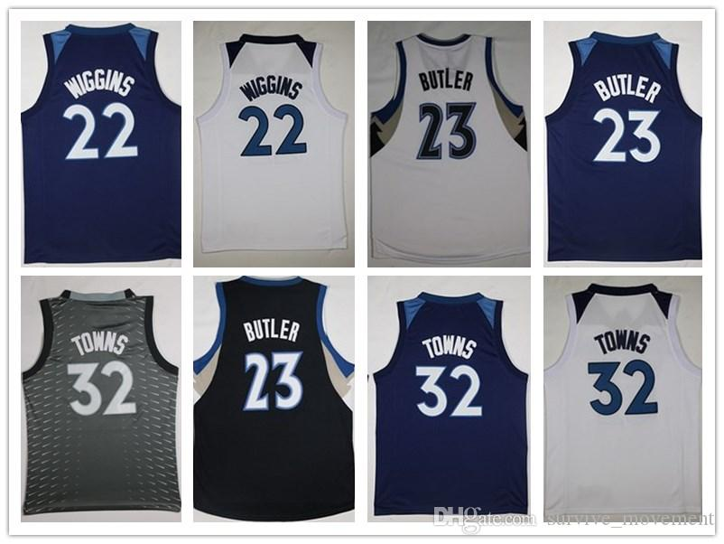 2018 2018 New 32 Karl Anthony Towns 23 Jimmy Butler 22 Andrew Wiggins  Jersey Men S Stitched Embroidery Basketball Jerseys From Tophotnewfive 3cbe0abf7