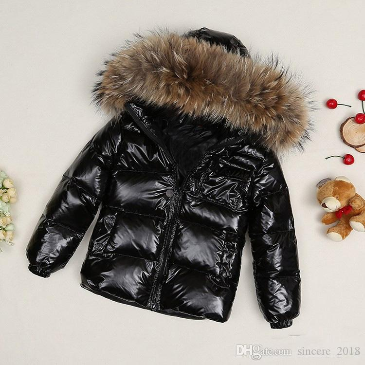 Children's Girl /women Winter Jacket Parkas Coat With Hood For Girls Warm Thick Down Jackets Kids Hooded Warm Real 100% Fur Collar Coats