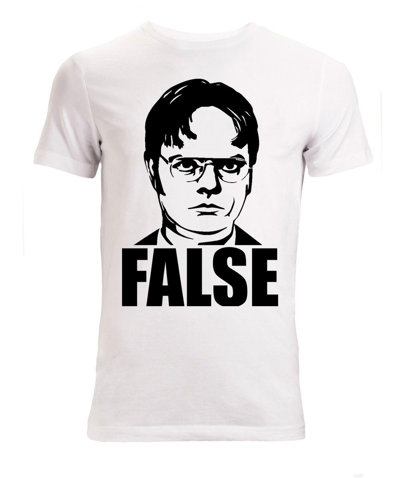ef414c428 The Office Dwight False Men's ( ) T Shirt White Top Quality Lol Short  Sleeves Cotton T-shirt Men Short Sleeve Tee