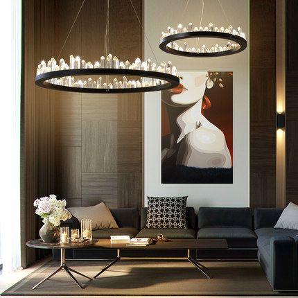 wooden chandelier lighting. american crystal chandelier led lights modern chandeliers lighting fixture nordic round home indoor light living room hanging lamp blue wooden