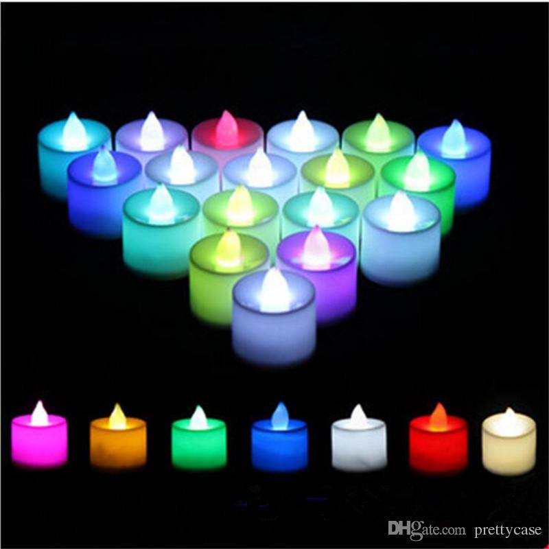 Candles Flameless Led Tealight Candles Night Lights Lamp Battery Operated For Wedding Birthday Party Christmas Home Decor High Safety Candles & Holders