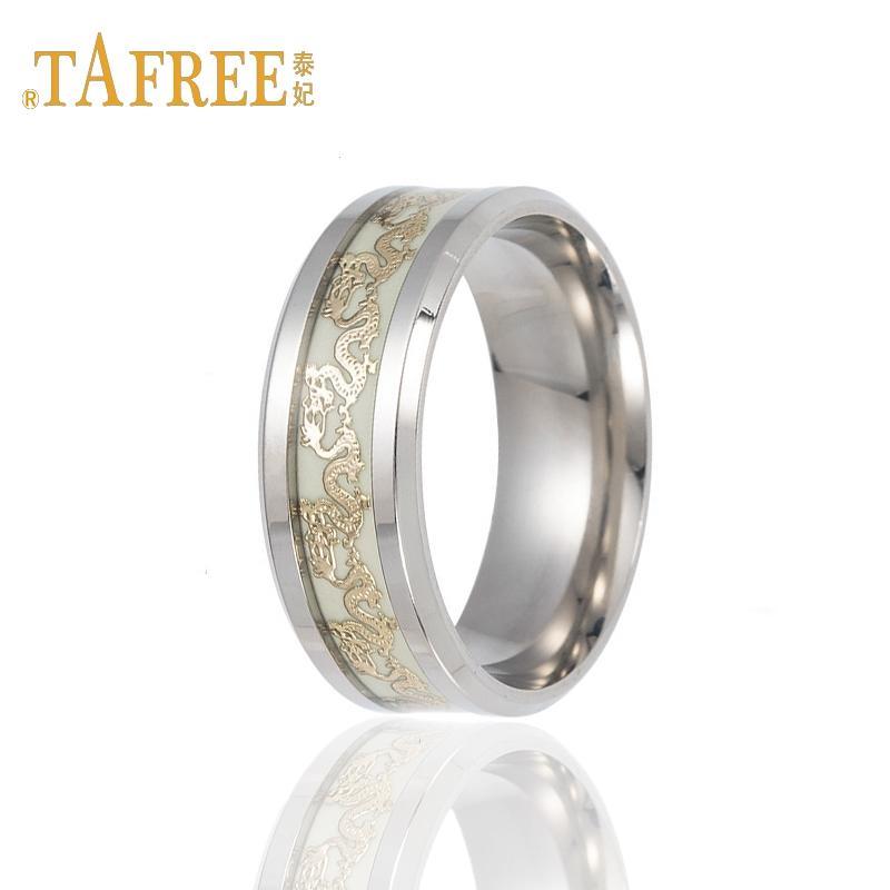 TAFREE Titanium Steel Various Patterns Glowing Ring Unique Glowing Men s  Birtheday Lover s Rings Jewelry R20013 Rings Cheap Rings TAFREE Titanium  Steel ... 4e716219b571