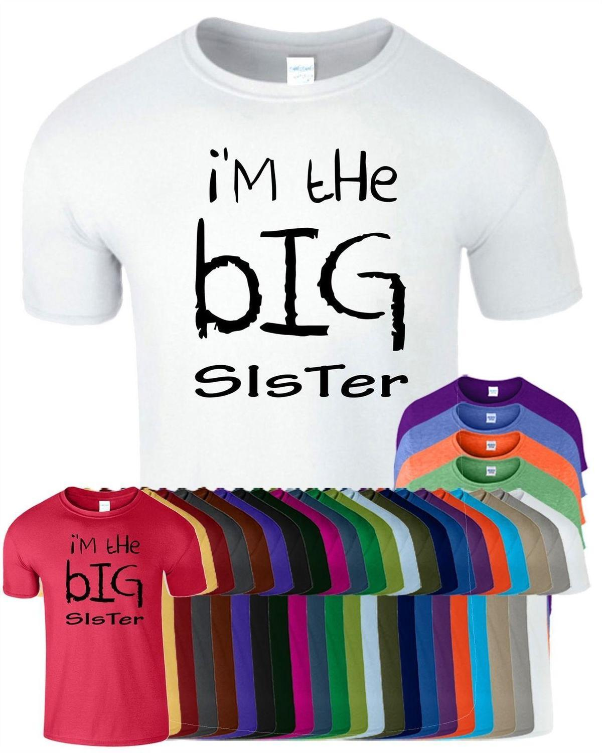 Im The Big Sister Girls T Shirt Sisters Birthday Gift Present Top Tee Cool Funny Shirts On From Pxue3305 1214