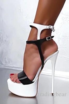 Big size 34 to 40 41 42 43 44 45 women platform ultra high heels pumps party club dance shoes 16cm