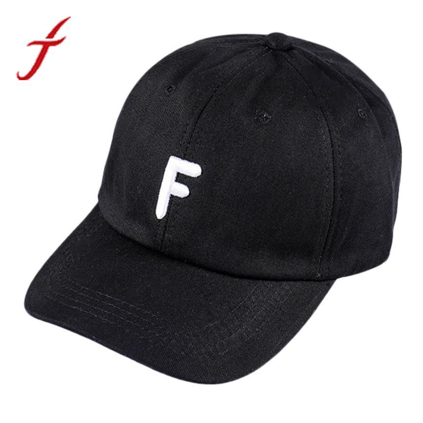 287cbc3c Feitong Letter F Embroidery Adjustable Snapback Unisex Vintage Twill Cotton  bone Baseball Cap Simple Streetwear Hat