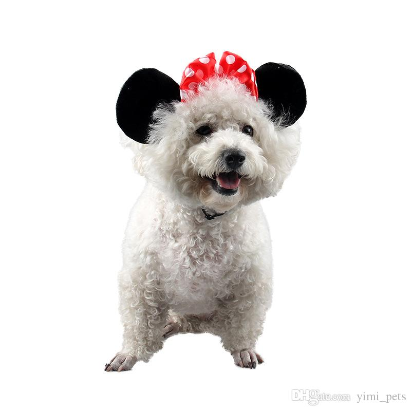 Hot sale cute pet hat accessories dog cat micky decoration hat pet apparel suplier DHL