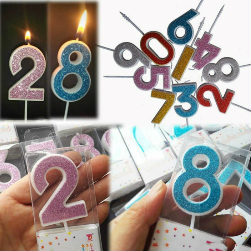 2019 Number Birthday Candles 1 2 3 4 5 6 7 8 9 0 Gold Sliver Kids For Cake Party Supplies Decoration From Xuol 3265